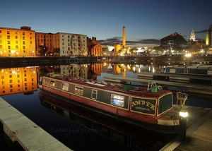 Salthouse Dock & Lennon Projection