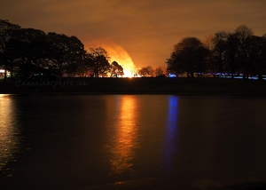 Sefton Park Lake & Fire