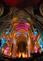Liverpool Cathedral Lights