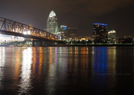 Cincinnati & Ohio River at Night
