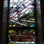 Spring Grove Cemetery Stained Glass Boat