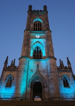 St Luke's Church in Blue