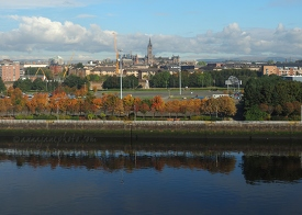 University of Glasgow from Science Centre