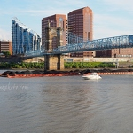 Barge and Ohio River