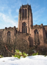 Liverpool Cathedral and Snow