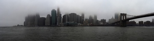 Foggy Lower Manhattan Panorama