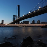 Manhattan Bridge and Light Trails
