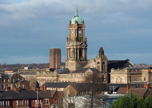 Birkenhead Town Hall from St Mary's Tower